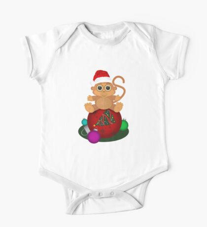 Christmas Monkey Kids Clothes
