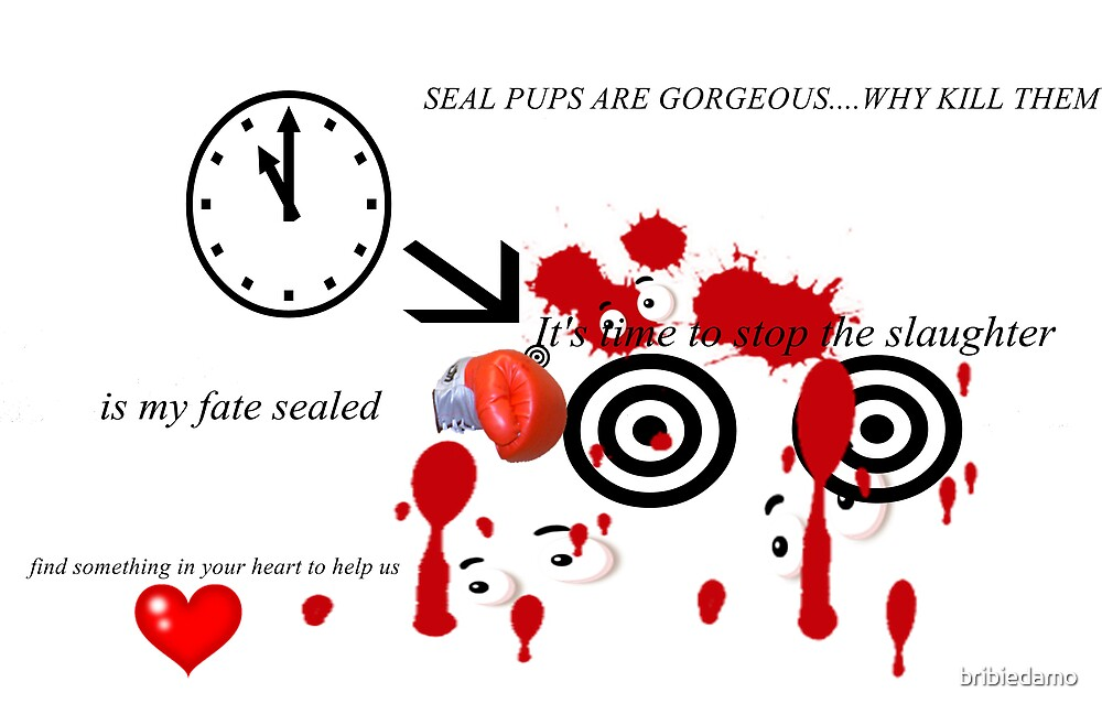 Seal Slaughter Protest by bribiedamo