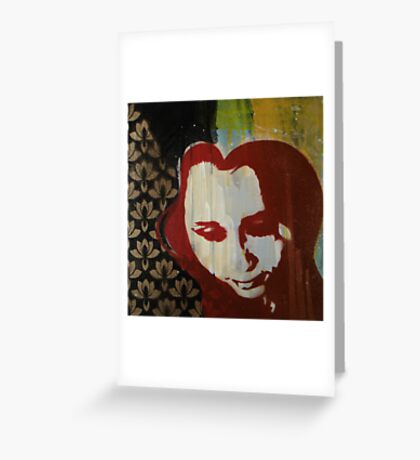 Scarlett (Black and Gold) Greeting Card