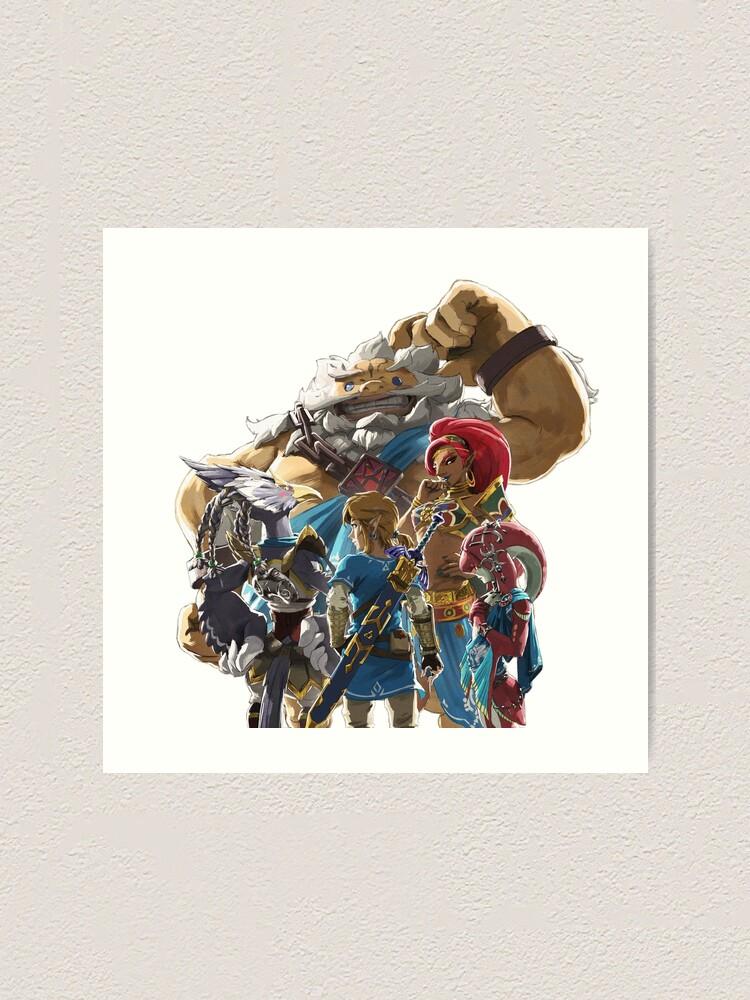 The Legend Of Zelda Breath Of The Wild Champions Artwork Link Art Print