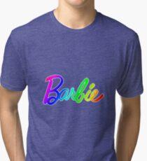 Rainbow Barbie Tri-blend T-Shirt