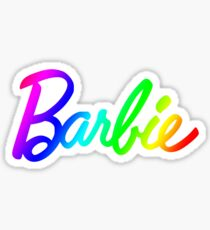 Rainbow Barbie Sticker