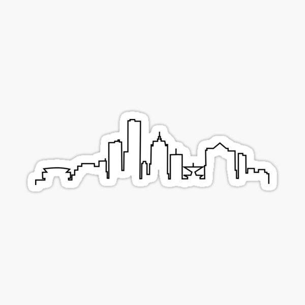 Milwaukee, WI City Skyline Sticker