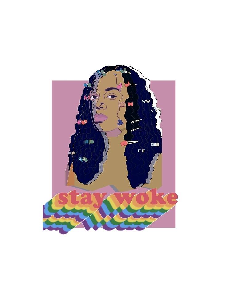 Stay Woke fan art Pride week  by ShariPadilla