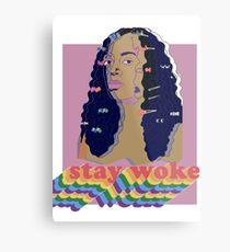 Stay Woke fan art Pride week  Metal Print