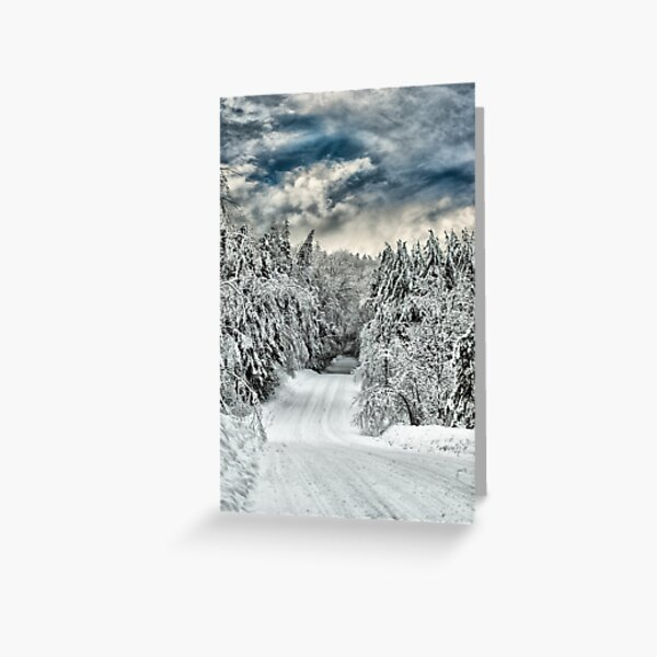 Neverending Winter Card Greeting Card