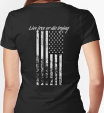 Live Free or Die Trying Women's Fitted V-Neck T-Shirt