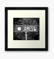 A Street Sign Named James Framed Print
