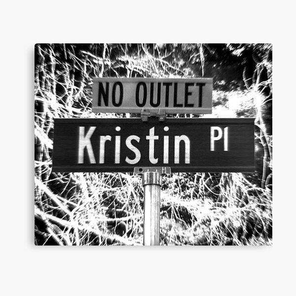 A Street Sign Named Kristin Canvas Print