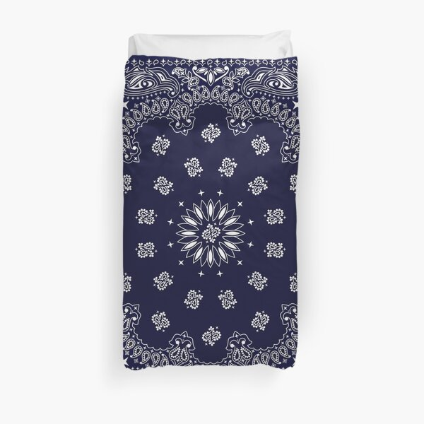 Bandana - Navy Blue -  Duvet Cover