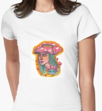 Mushroom Cap Women's Fitted T-Shirt