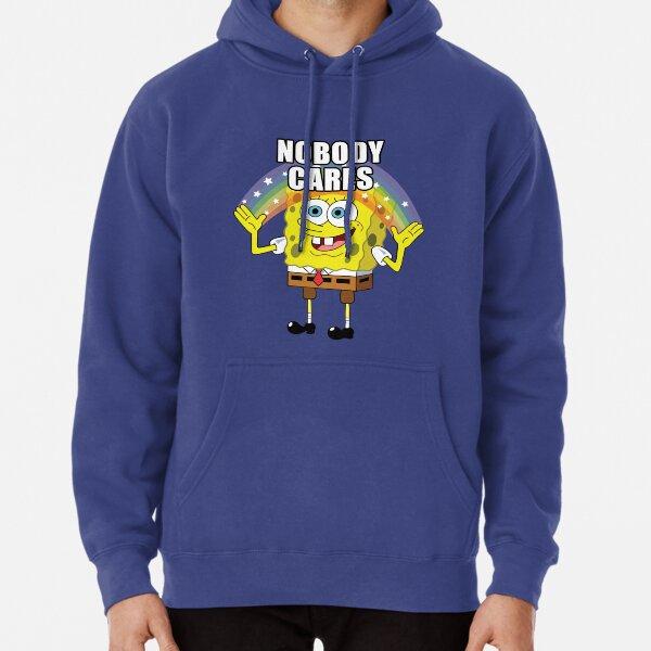 Spongebob Nobody Cares Pullover Hoodie