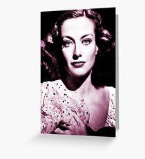 Joan Crawford vintage theme Greeting Card