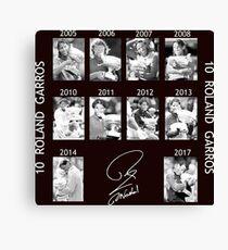 10 Roland Garros for Nadal Canvas Print