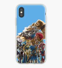 The Legend of Zelda - Breath of the Wild - Champions' Artwork - Link and Zelda iPhone Case