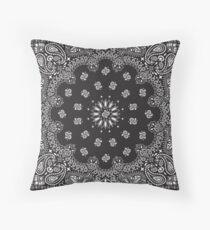Bandana -  Charcoal  Throw Pillow