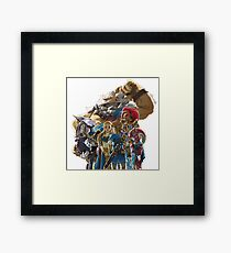 The Legend of Zelda - Breath of the Wild - Champions' Artwork - Link and Zelda Framed Print
