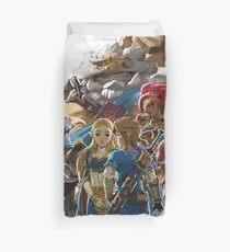 Die Legende von Zelda - Atem der Wildnis - Champions Artwork - Link und Zelda Bettbezug