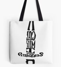 Double Over: I Will Cut You Tote Bag