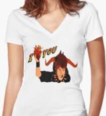 Temple of Love Women's Fitted V-Neck T-Shirt