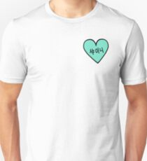 SHINee 샤이니 Hangul Heart Patch kpop Unisex T-Shirt