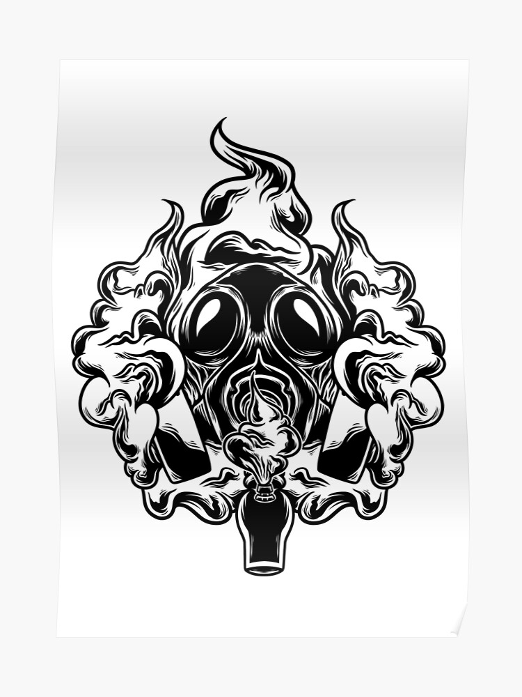 Gas Mask Bong | Poster
