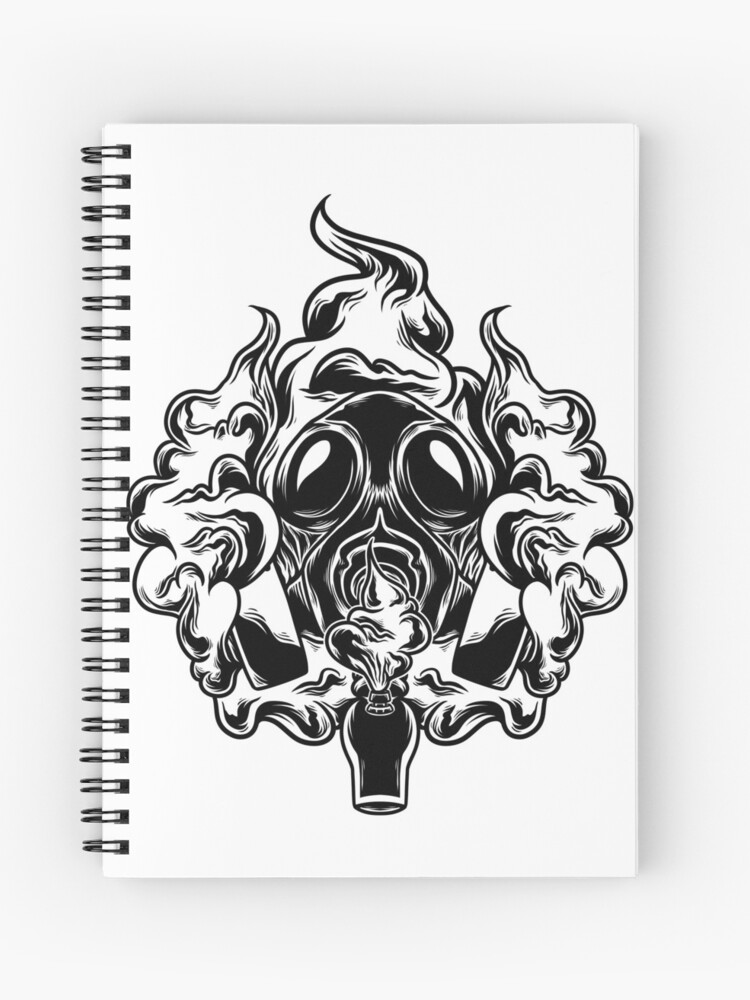 Gas Mask Bong | Spiral Notebook
