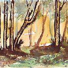 A walk in the Bluegum bush by Maree Clarkson