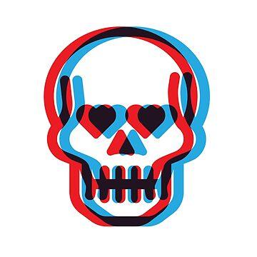 Retro 3D Skull by IdleCo