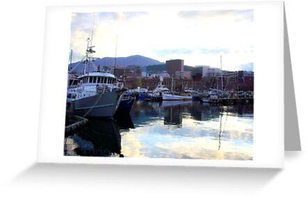 """Sunset on the Docks. . ."" by lurline"
