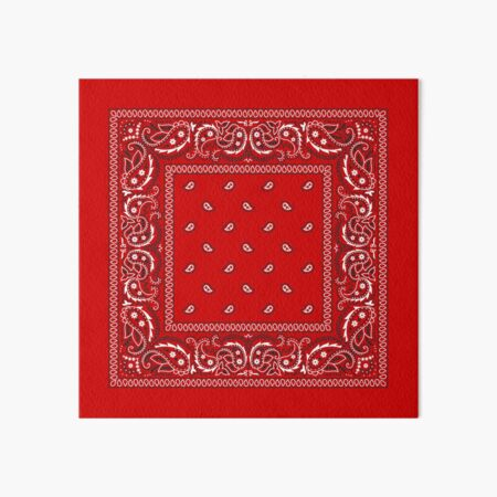 Bandana - Red  Art Board Print