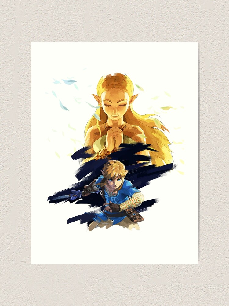 The Legend Of Zelda Breath Of The Wild Link And Zelda Art Print