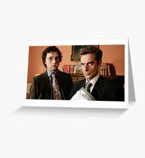 Peter Capaldi + Chris Addison Greeting Card