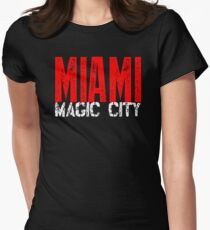 Miami Magic City 305 Wynwood South Beach Women's Fitted T-Shirt