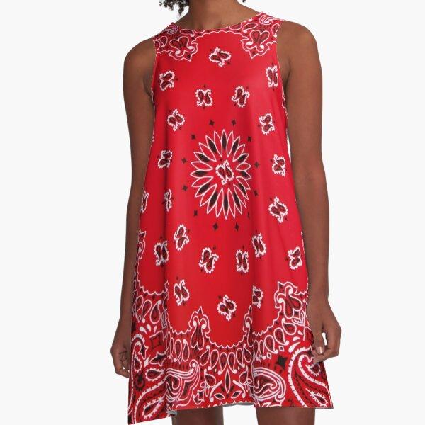Bandana - Red  A-Line Dress