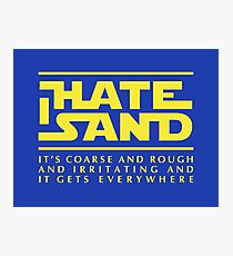 For sand haters (yellow) Photographic Print
