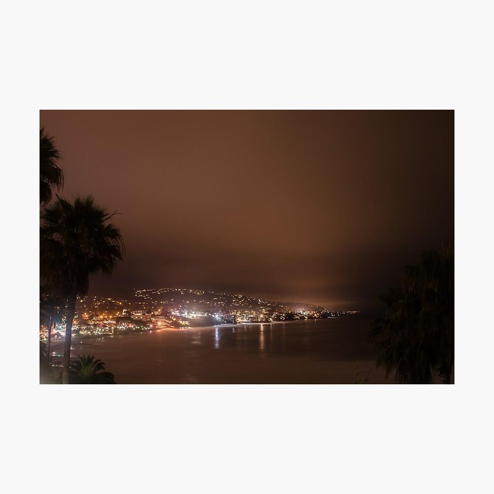 Beautiful Laguna beach at night Photographic Print