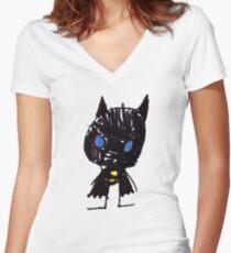 Superhero 1 Women's Fitted V-Neck T-Shirt
