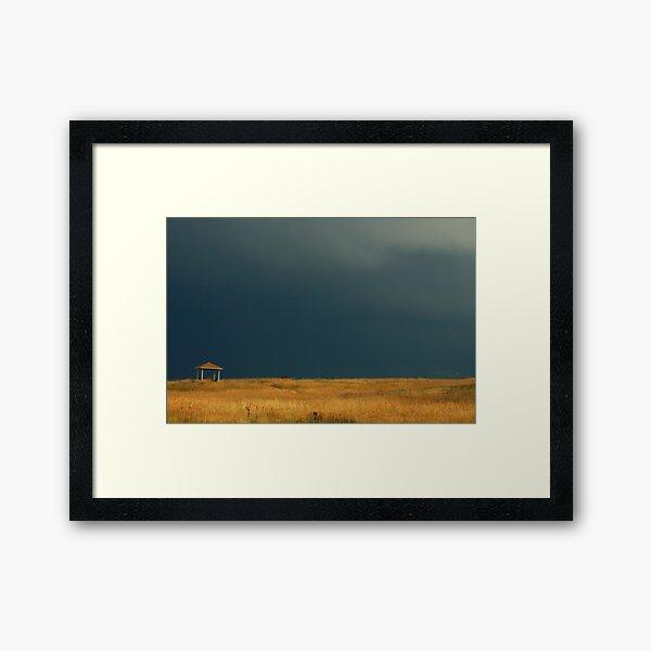 Lonely Shelter Framed Art Print
