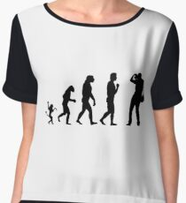 Photographer and the evolution Women's Chiffon Top