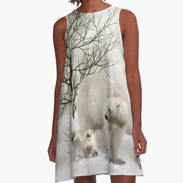 Awesome polar bear  A-Line Dress