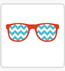 Glasses Icon in flat style Sticker