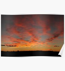 Australian desert sunset Poster