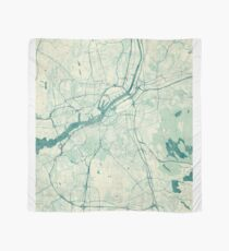 Gothenburg Map Blue Vintage Scarf