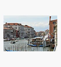 Buildings and gondolas in the Canal Grande in Venice, Italy Photographic Print