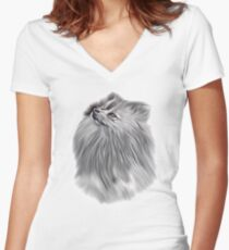 Look into my Eyes Women's Fitted V-Neck T-Shirt