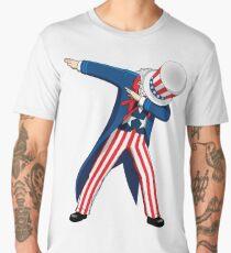 Funny Dabbing Uncle Sam 4th of July T-shirt Men's Premium T-Shirt