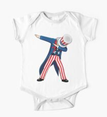 Funny Dabbing Uncle Sam 4th of July T-shirt Kids Clothes