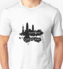 Cleveland Skyline Grunge T-Shirt