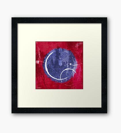Textured Blue Moon Framed Print